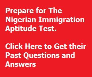 The Nigerian Immigration Service Past Questions and Answers