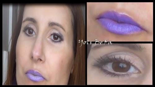 Maquillaje con morados