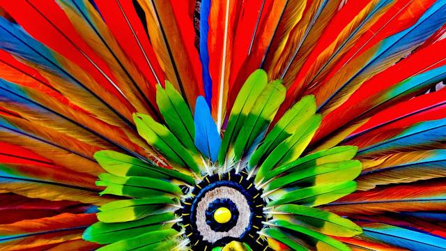 Aztec headdress detail (© Marcia Chambers/Alamy) 580