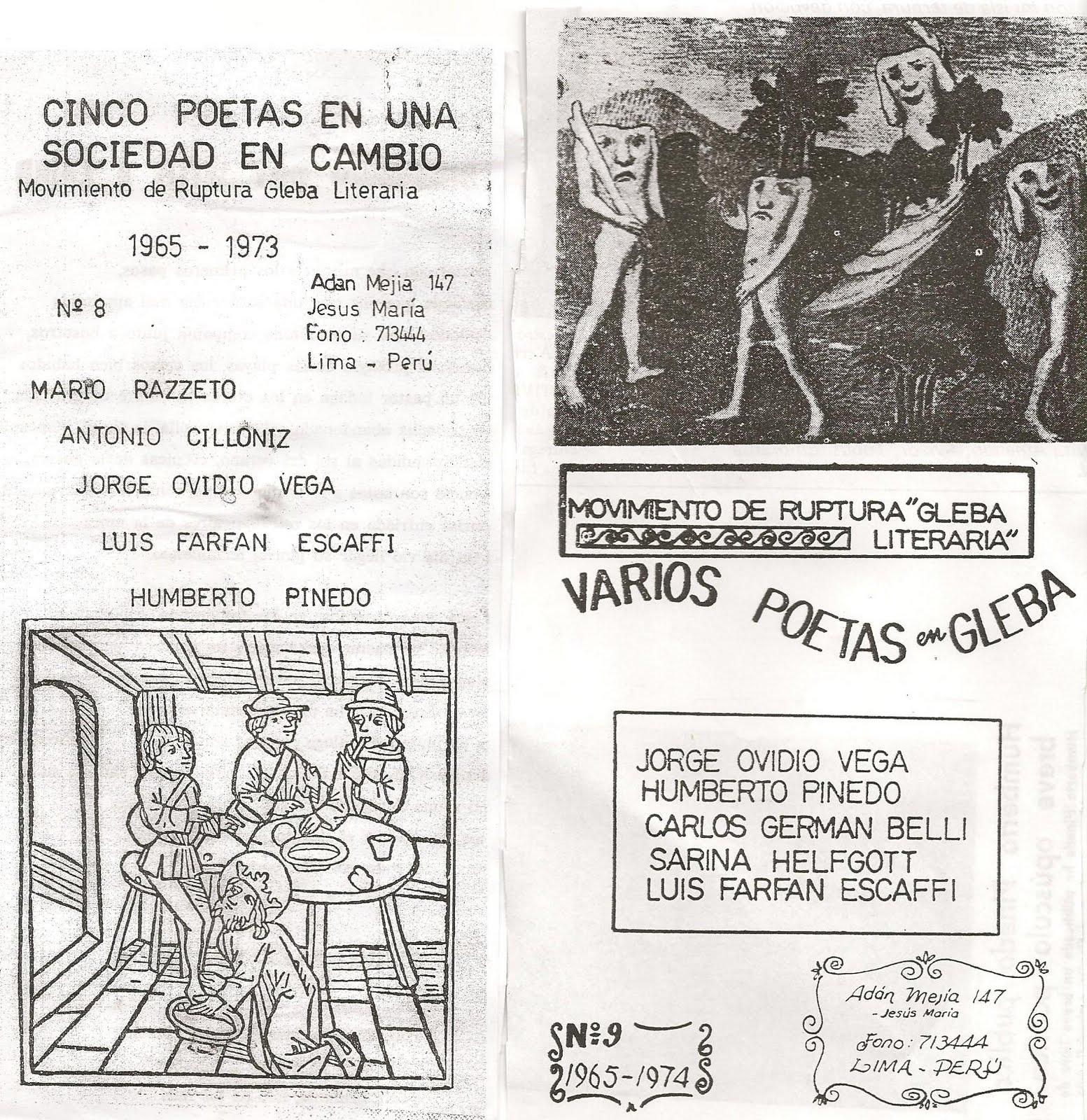 humberto pinedo mendoza la primera publicacion de gleba literaria fue ...