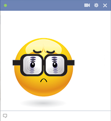 Eyeglasses Emoticon For Facebook