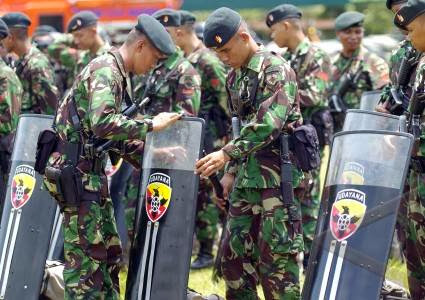 Jelang Pemilu 2014 TNI Siapkan Pasukan Anti Huru-Hara