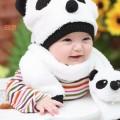 Topi Bayi Berbentuk Panda – Dilengkapi Syal Yang Hangat