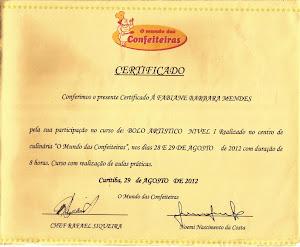Certificado Bolo Artístico