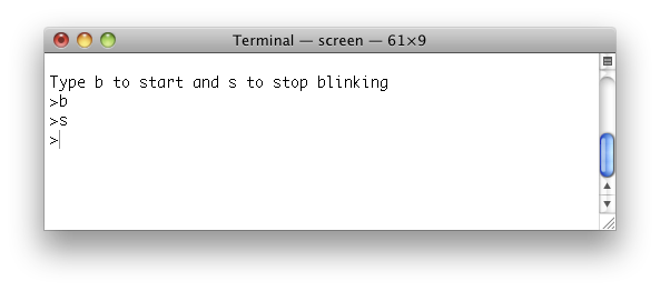 Control Your Camera: Using the OS X terminal to control the Arduino