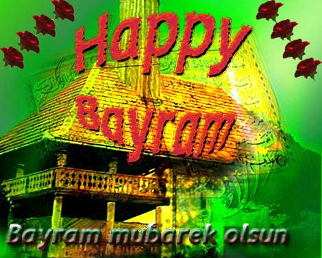 greeting card for bayram , eid