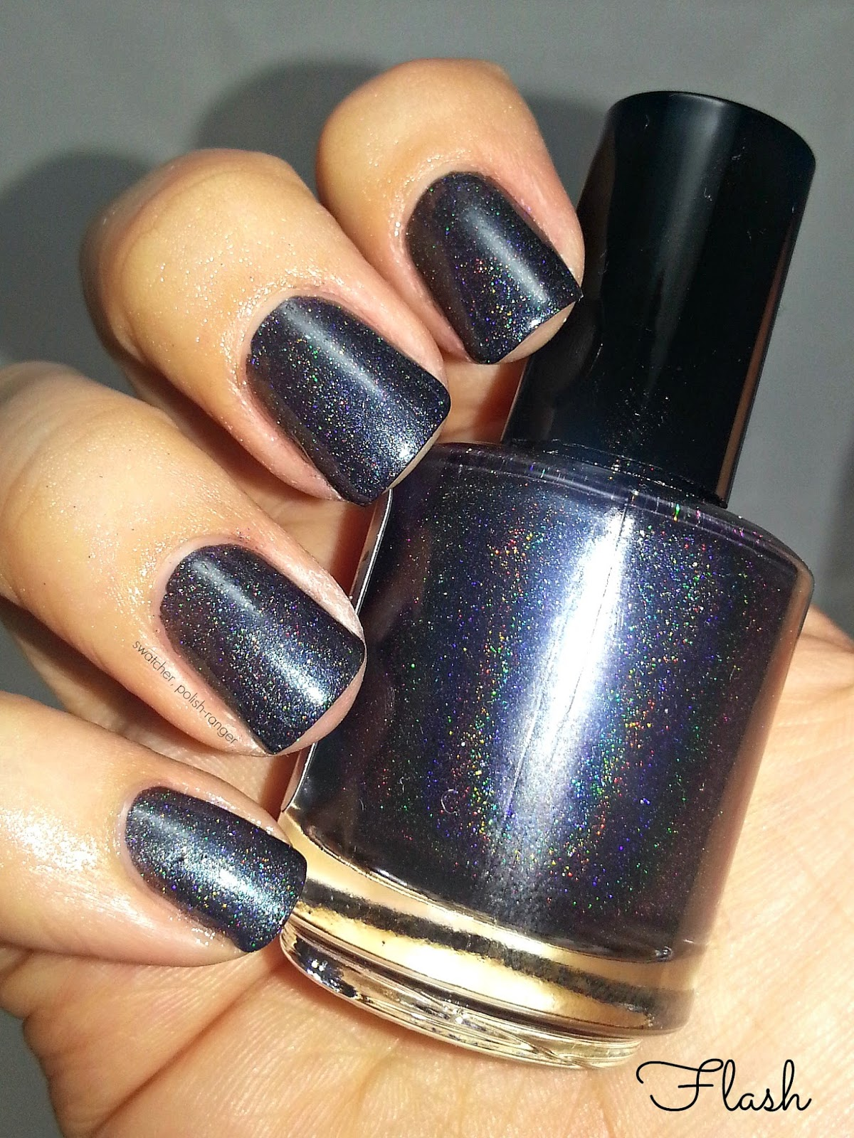 Sweetcheeks Polish Black Ice swatch