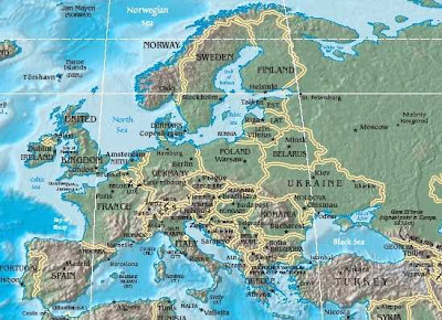 Maps of Europe Geographical (1)