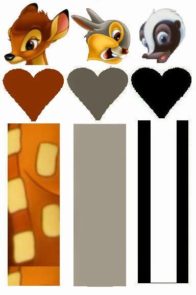 Bambi: Envoltorios Especiales para Golosinas, para Imprimir Gratis.