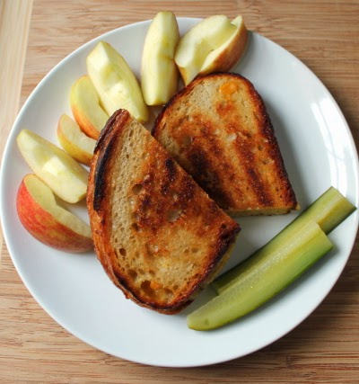 Grilled cheese, apples, pickles!