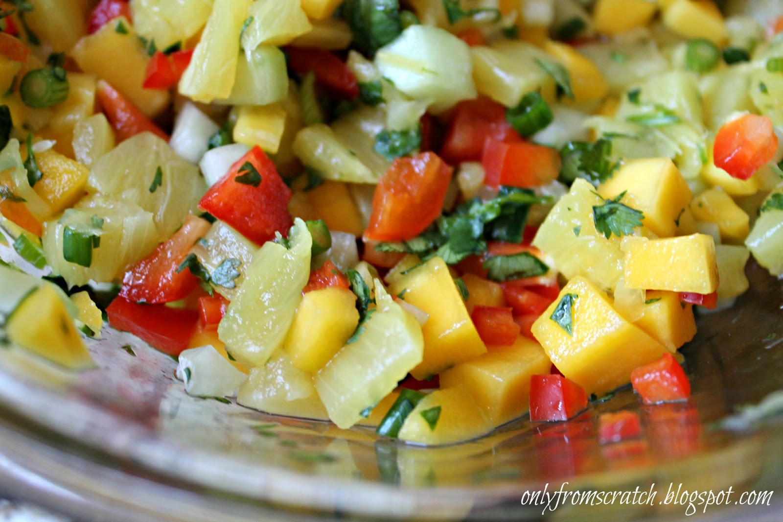 Only From Scratch: Pineapple Mango Salsa