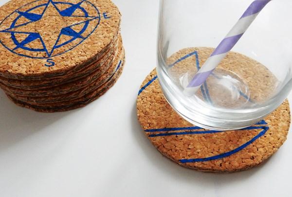 DIY : dessous de verre marin