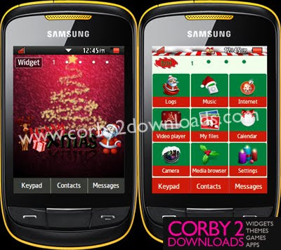 samsung corby 2 christmas themes