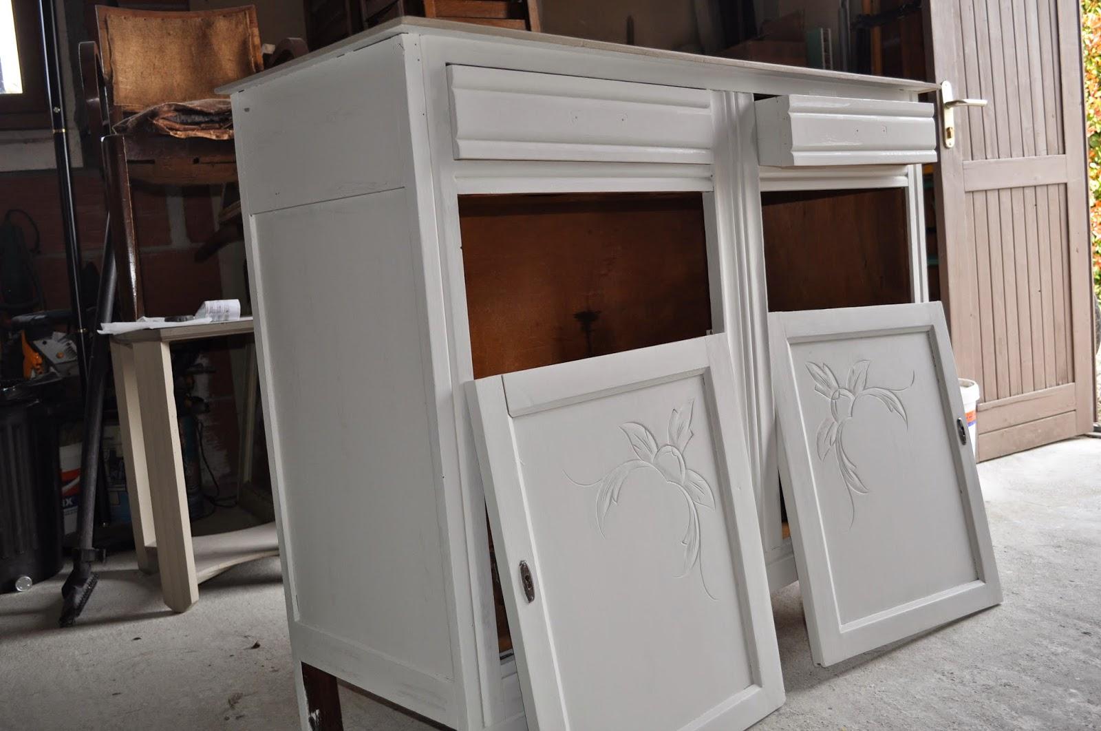bois et patines nathalie madrenes buffet patine shabby chic. Black Bedroom Furniture Sets. Home Design Ideas