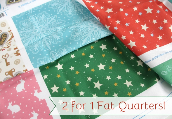 2 for 1 on Fat Quarters at Spoonflower hazelfishercreations