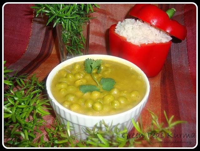 Green Peas Kurma recipe,Pattani Kurma recipe, Green Peas Korma Recipe