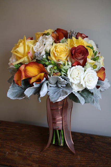 Rose and calla lily bridal bouquet at Museum of Dance Saratoga Springs NY - Splendid Stems Floral Designs