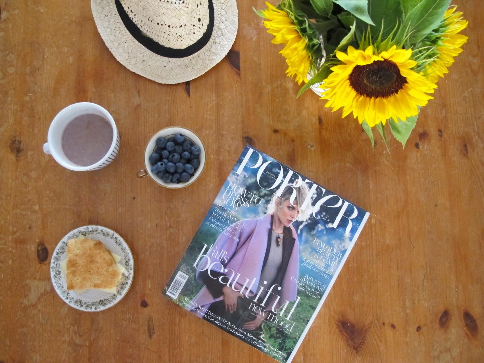 Porter Magazine, Net-a-porter, Scones, Hot Cocoa, Sunday