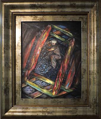 Exposición pintura de Joaquín Castro en la librería Santa Teresa de Oviedo