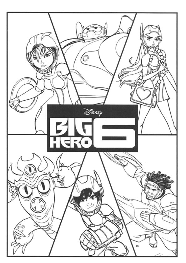 Coloring big hero characters 6