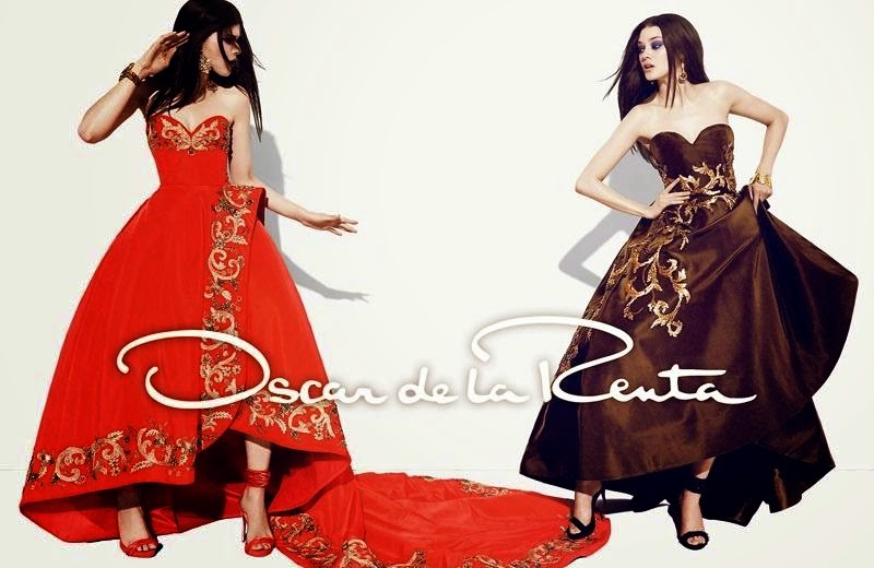 Oscar de la Renta Fall/Winter 2014 Campaign featuring Diana Moldovan and Larissa Hofmann