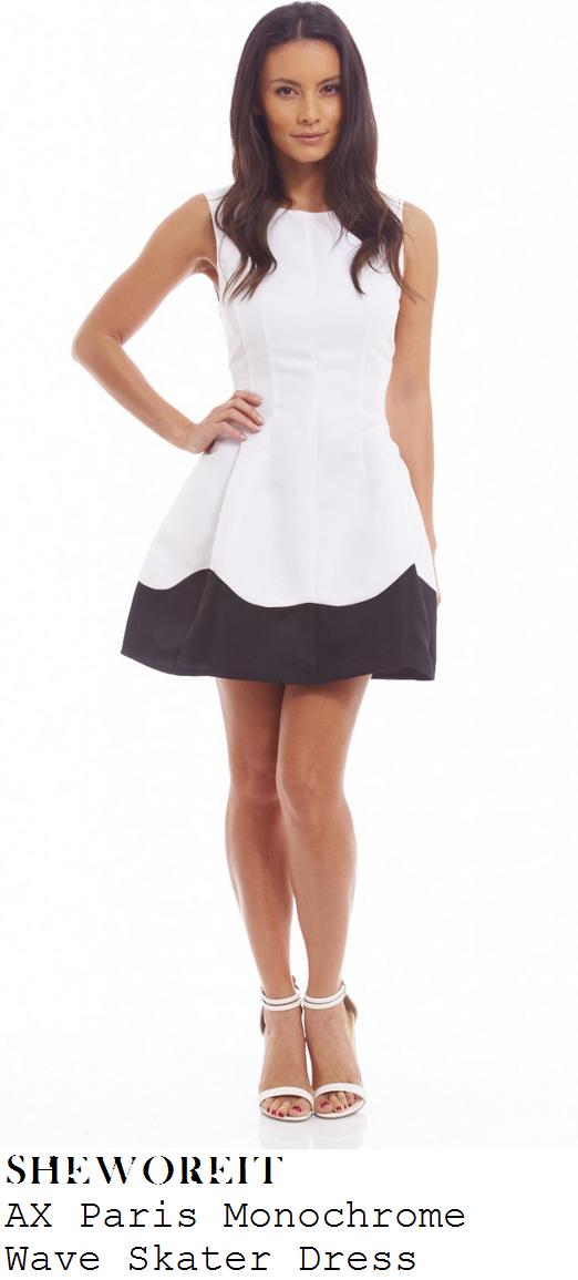 casey-batchelor-white-black-hem-panel-sleeveless-structured-skater-dress