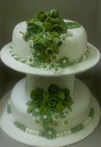 2 TIER FONDANT WEDDING CAKE