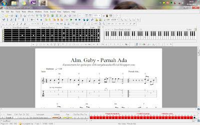 Aransemen Lagu Gaby Pernah Ada di Guitar Pro 5