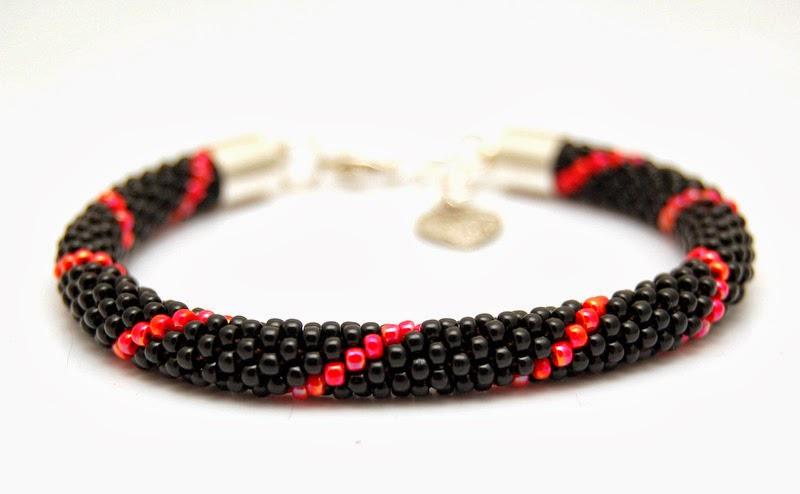 bransoletka koralikowa szydełkowa bead crochet bracelet 16