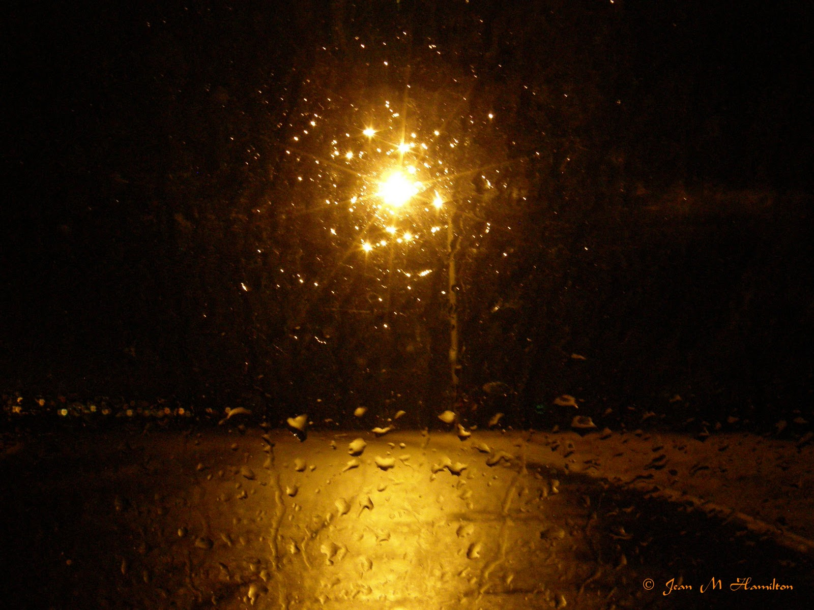 Rain Window Night