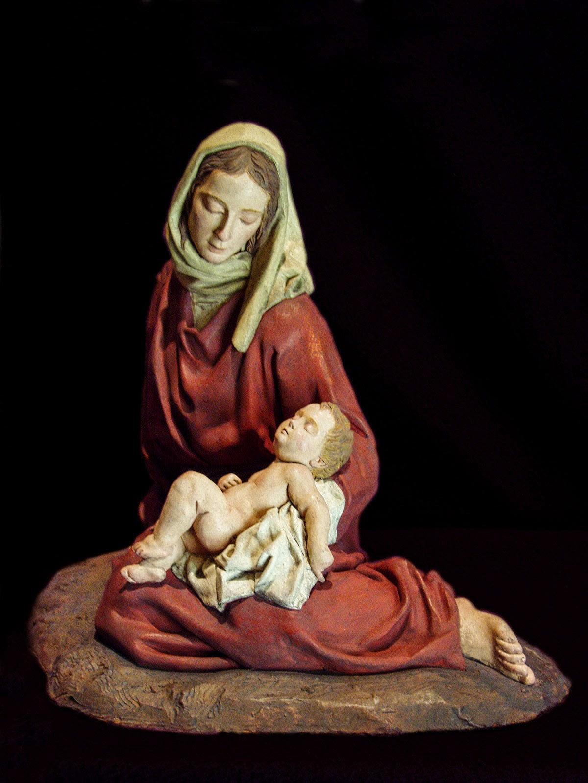 Nacimiento Belén Nativity krippe presepe Arturo Serra Gómez Barro cocido 2