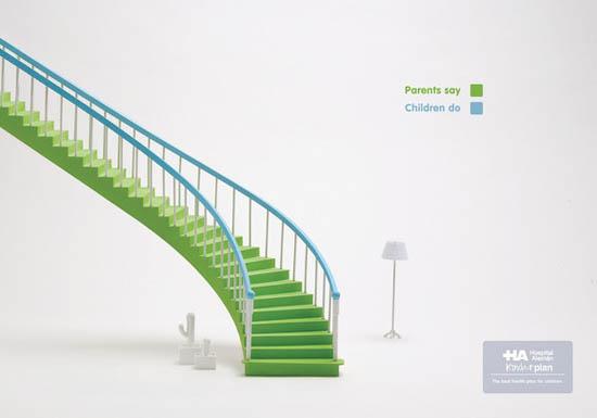 anúncios minimalistas e criativos na internet - Kinder Plan
