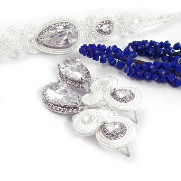 """Sutasz ślubny biżuteria, komplet """"Lady Stuart PREMIUM"""""""