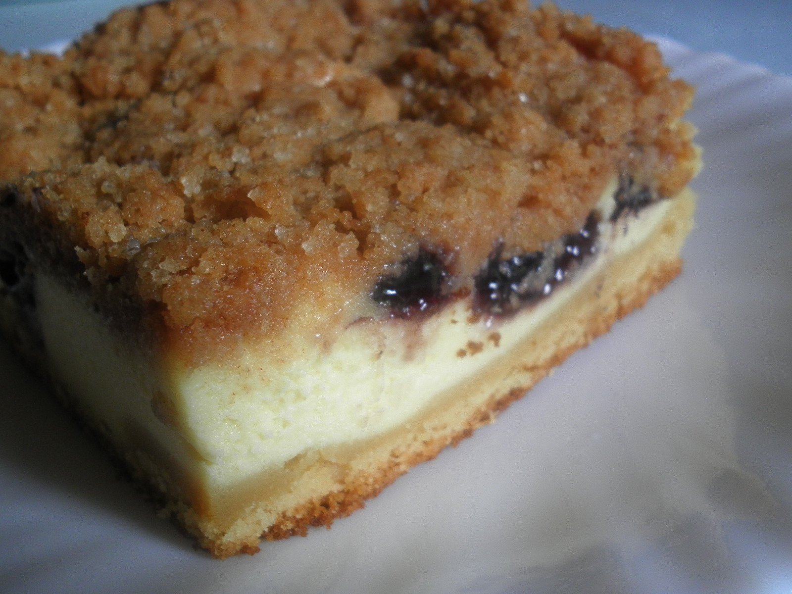 Every Little Crumb: Blueberry Cream Cheese Coffee Cake