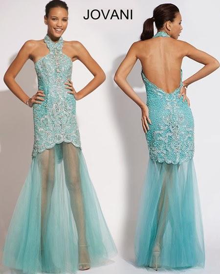 Къса рокля за бала с прозрачно удължение Jovani 2014