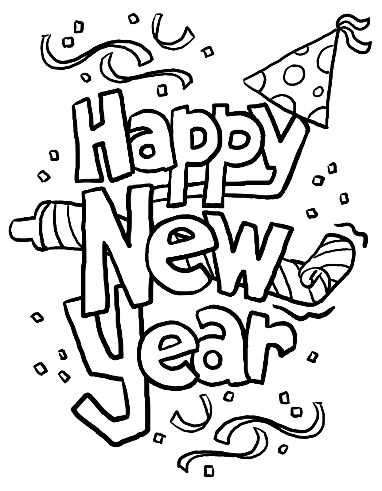 Kalamzine Happy New Year New Years Coloring Pages For