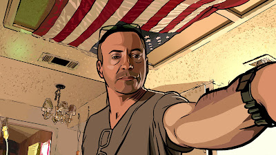 Robert Downey in A Scanner Darkly
