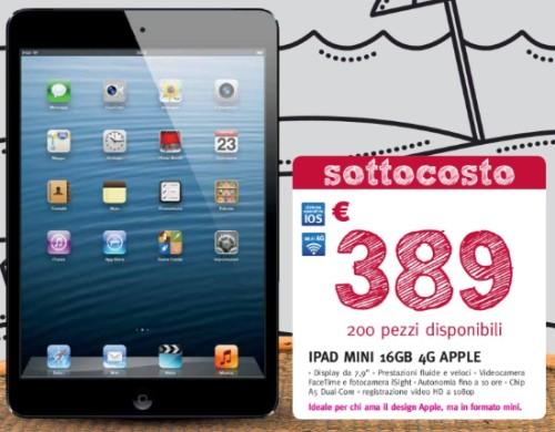 Supermedia vende 200 iPad Mini 16 GB Cellular al prezzo sottocosto di 389 euro fino al 13 luglio 2013