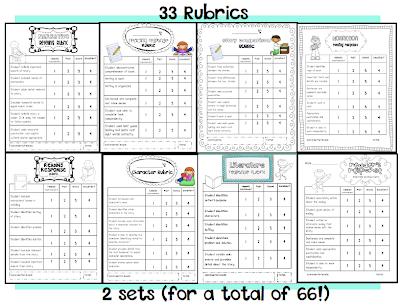 First Grade Reading Response Rubrics on 1st grade character setting ...