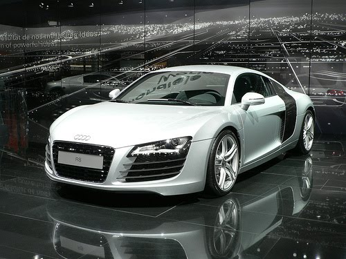 Audi r8 Black and White
