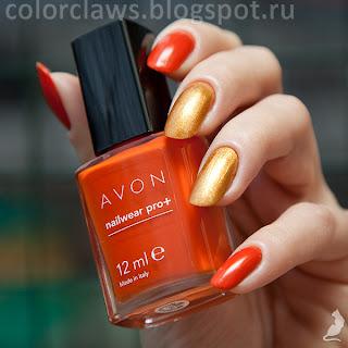 Avon Catwalk Cayenne + Orly Glitz