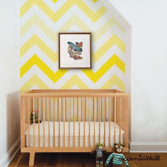 mur chevrons jaune | girlystan.com