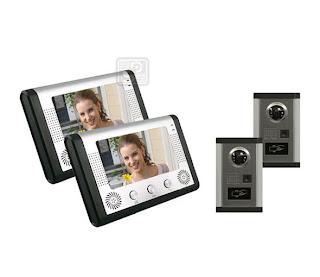SY-801+D9ID 2/2- комплект видео домофона с RFID (2 монитора, 2камеры)