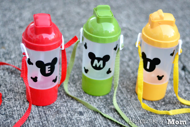 Dollar Store Mickey Water Bottles