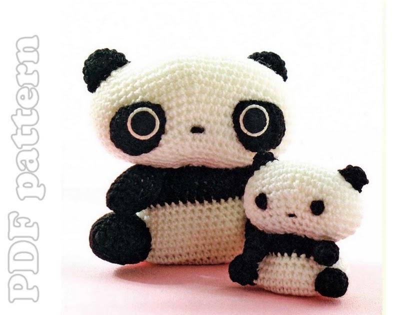 Amigurumi Tarepanda : 2 Amigurumi Tarepanda San-X Crochet Plush Pattern PDF ...