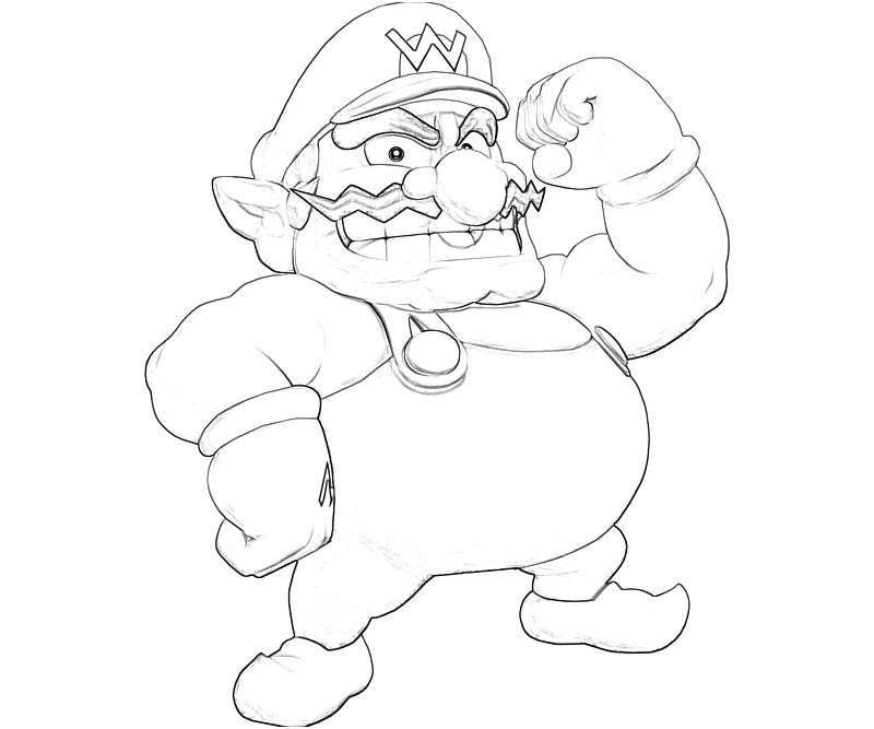 wario coloring pages - photo#7