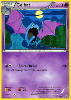 Golbat Plasma Storm Pokemon Card