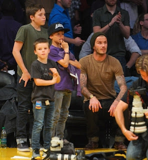 Beckham With Kids