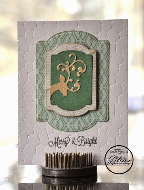 Merry & Bright Card by Beth Pingry for A Jillian Vance Design