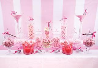 Decoracion de caramelos rosas